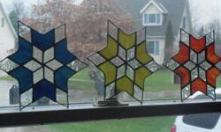 """these are hand crafted. we call them the """"spirit star"""" i have three made up one blue one yellow and one orange. they are $22 each. will not ship but will make arrangements with you. in th erie area."""