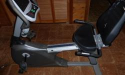 Semi-recumbent Fitness Cycle Vision Fitness (R2200HRT) Excellent condition..With owners guide..Fully assembled.