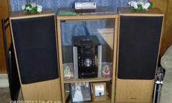 Just selling the speakers & cabnet, the speakers do work, just down sizeing to make more room, need to sell to buy a small sofa bed or love seat.