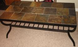 I have a stone tile top coffee table for sale. Asking $30.00. It is great...you can have drinks on top and wipes clean! I also have other pieces of my living room set listed. We are located 3 miles of Interstate 75 in Henry County. Please email me with