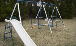 What can I say, it's a swing set that needs some kids to play with! Buyer will need to pick-up the swing themself.