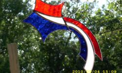 Stained Glass handmade Items come see the beautiful Glass pieces, We take pride in our product and make sure they are of very nice quality. Will make special orders or as many as you would like as long as we have the pattern. We have items starting at