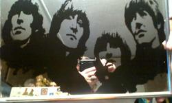 Mirror Picture of the Beatles in the frame