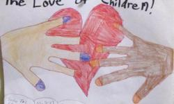 This is a 9 in x 12 in drawing my daughter did October 29, 2012 she calls, THE LOVE OF CHILDREN! My daughter is Sindie Jo and she is 8-years-old. She is looking to sell her drawing to an art lover created by Children. Her goal is to sell enough of her