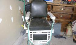 Pre WWII Barber chair. In good working order. Must sell