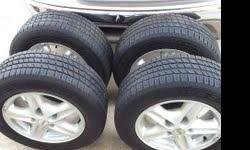 Goodyear 225/60/16 Tires less than 100 miles very good conditions mounted on pontiac rims