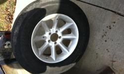 "4 - 16"" WHEELS 5 ON 4.5 MEDIUM OFFSET FORD ESCAPE W/TPMS SENSORS 2 DECENT TIRES AND 2 HOLD AIR. $250.00 .."
