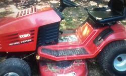 Toro Tractor for sale $300.00 OBO Older model runs good Call Melisa