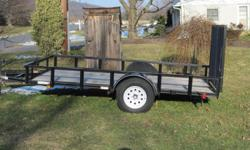 This is a 12 foot by 6 foot trailer. Only used one season. In nice shape