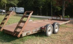 Trailer - 2 axle = 8 thousand lbs each Good Tires Diamond Plate Steel Deck with Ramps Pintle Hook Hitch Receiver hitch is included 1,550.00 Call 870-530-2296 Any Reasonable Offer will be considered