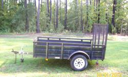 I am looking to sell this trailer. It is in good condition. I have the light kit for the trailer. My husband and I are divorced and I am in the process of getting his stuff sold. I will accept any reasonable offer. I really want to get rid of it. All