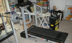 Ulesco Cadance 1005 treadmill. Fair condition. Tread works fine. Moniters and counters do not work.