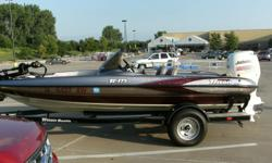 "17'6"" Triton TR175 Fiberglass bassboat bought new in Aug. 2004. Johnson 115HP four stroke w/stainless steel prop. Marine master trailer, spare tire, custom cover, spare alum. prop, 2 x-51 Lowrance depth finders, 80lb. thrust 24 Volt Minn Kota trolling"