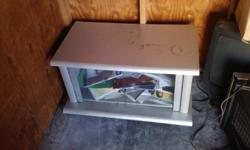 Grey TV stand with glass doors. Please call Richard at --
