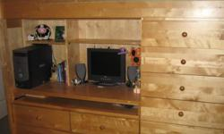 Upper bunk bed - lower desk - drawers - great for teens Lower bunk hidden in bottom. Excellent space saver.