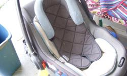 stroller $7 each, one is dora andpink and one is blue infant seat with base $25 snugli front caririer for baby$12 boaster seat a fold up seat to sit in a chair $15 fisher price bouncer, no music, but has toys hanging $10 child chair opens in to a bed, 8