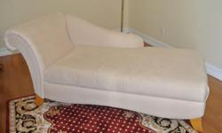 Pristine--Beautiful La-Z-Boy Cream Chaise! Top of the Line-Suede---Like New! Rug, Coffee Table, and Lamp sold Seperately!