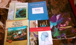 PREALGEBRA BY ELAYN MARTIN-DAY PREP ENGLISH-THE WRITER'S WORKPLACE WITH READINGS BY SANDRA SCARRY & JOHN SCARRY ALSO FOR PREP ENGLISH FEE PRATICE WRITING TEST 2009 BY MEGHAN CUNNINGHAM READING ACROSS THE DISCIPLINES BY KATHLEEN T. MCWHORTER ALSO FOR REA
