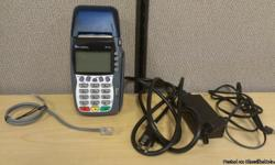Free Terminal with Merchant Service account Signing!!! This is a brand new Verifone Credit Card Terminal. The Vx570 has a Dual Com feature so it supports connection through IP as well as through a normal phone line. This Credit Card terminal is PCI PED