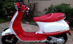 This is a gorgeous, European style scooter. Almost new, just 337 miles! In mint Condition. I just purchased a new one and this is why I am selling it. Engine Displacement -The 4-Stroke engine in the Vespa S 150 I.E., has a displacement of 150cc, which is
