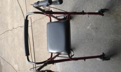 Walker with brakes and basket like new