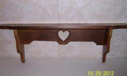 "Handmade Walnut Shelf - Measures 6"" depth and 36"" long - Very nice.  Also have light fixture - $7"