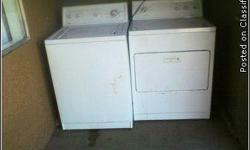 white kenmore washer and dryer works,just moved here ,had a washer/dryer here already in the apartments,thats why i need to sell them