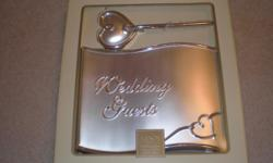 Silver Forevermore Guestbook with pen in original box. Never been used. (orginal price 58.00)