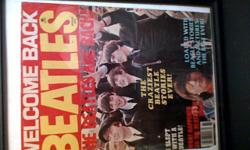 Welcome back Beatles the beatles are back magazine cover page in a picture frame