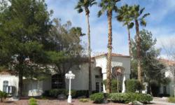 Second floor unit overlooking pool. Well maintained two bedrooms, two baths with fireplace. Gated community with all amenities. Call and See it today, Paul Douglas with C21 Moneyworld (702) 234-3875 or email: pdouglas@topproducer.com. Looking to buy, sell