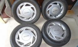 "Acura 14"" wls, 4 lug with 195 60 14 tires.  Tires are fair - good.  Should fit Acur/Honda from 1988-1992.   $300.00 cash. 501-399-9385"