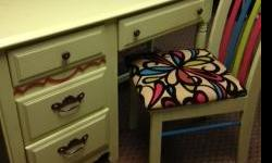 Fun desk / chair with lots of color!  Please call -- if you have any questions or would like to see.