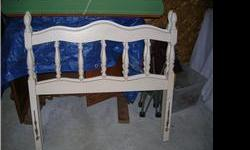 Solid wood...good for girl's room. Call & leave message to schedule appointment. Pickup and Cash Only