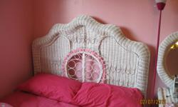 wicker bed full size with mattressvery cute 140.00 firm my number is 623-9824 or cell # is 679-9407