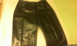 2 Pair of Brand New Leather Pants, Never been Hemmed!  Size 7/8 and 10.