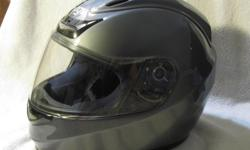 I bought the helmet two years ago when I got my first bike, but after life style changes and a move, I had to downsize. I only wore the helmet a handful of times and have kept it covered and in a closet so it still it is still just like new. It