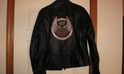 Womens size large Harley Davidson leather jacket. The item is a 105th Anniversary jacket. New without tags.