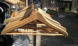 Real Wood Hangers paid over $4.00 each, selling for only $1.00each Please call at 916-346-8490