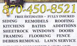 STALEY CUSTOM SIDING & EXTERIORS L.L.C. IS A BONDED & INSURED CONSTRUCTION COMPANY. SPECIALIZING IN ALL ASPECTS OF RESIDENTIAL CONSTRUCTION. ROOFING, SIDING, SOFFIT, FASCIA, WINDOWS, DOORS, FLOORING, REMODELS, ADDITIONS, PAINTING, POLE BARNS, POST FRAMES,