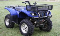 Yamaha Grizzly blue 4-wheeler in good condition and runs great! It has 196 hours. There are only two owners (my brother-in-law & ourselves) so know that it has been taken care of. It has been kept inside. We have just used it