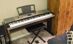 Yamaha YPG525 keyboard, 88 keys w/stand, pedal, seat. Excellent condition.
