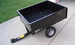 10 CUBIC FT. YARD CART WITH PNEUMATIC TIRES. BRAND NEW, NEVER BEEN USED. $95.00 IF CUSTOMER PICKS UP.