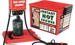 Hot Tap On-Demand Hot Shower 6185 Your Price: $149.95 Enjoy the comfort of instant hot showers anytime anywhere. Portable and self-contained, the Hot Tap is one of our most popular on-demand hot showers. Equipped with a stainless steel burner, this Zodi