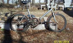 zotta folding bicycle for restoremade in argentina last made in 1988 complete, bike tires still hold air. call -- ask for gary no spammers can sale on my own $40.00 firm can not deliver pick only
